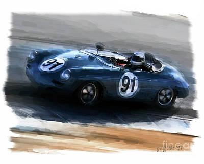 Photograph - Vintage Porsche by Tom Griffithe