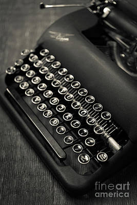 Typewriter Keys Photograph - Vintage Portable Typewriter by Edward Fielding