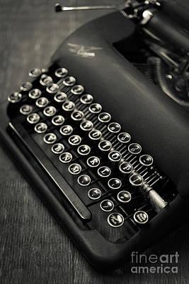 Vintage Portable Typewriter Art Print by Edward Fielding