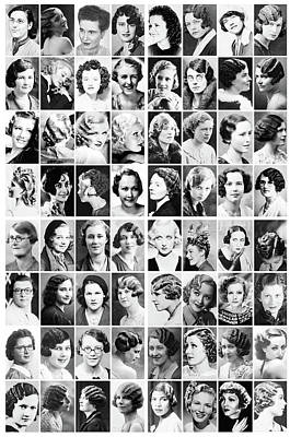 Photograph - Vintage Portrait Photos Depict Womens Hairstyles Of The 1930s  - Doc Braham - All Rights Reserved. by Doc Braham