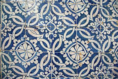 Ceramics Photograph - Vintage Portuguese Azulejo by Gaspar Avila