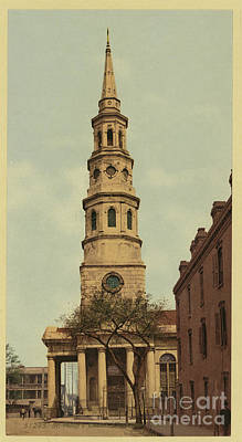 Photograph - Vintage Postcard Of St. Philip's Episcopal Church by Dale Powell