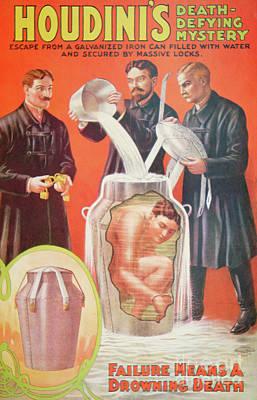 Vintage Poster Advertising Houdini Art Print