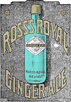 Drawing - Vintage Poster Art - Gingerale  by Wall Art Prints