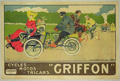 Griffon Painting - Vintage Poster Bicycle Advertisement by Walter Thor