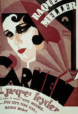 Jacques Drawing - Vintage Poster For Carmen by French School