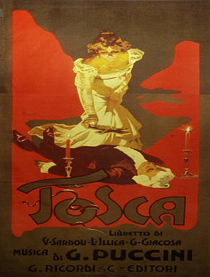 Tosca Painting - Vintage Poster - Tosca by Vintage Images