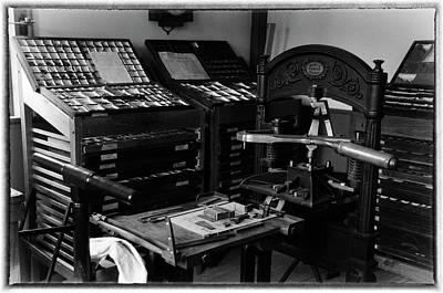 Photograph - Vintage Print Shop by Mike Martin
