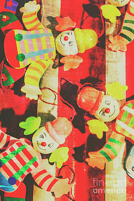 Clown Photograph - Vintage Pull String Puppets by Jorgo Photography - Wall Art Gallery