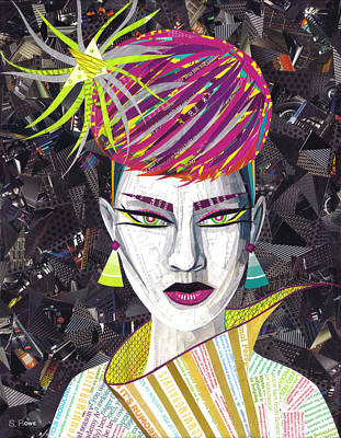 Mixed Media - Vintage Punk  by Shawna Rowe