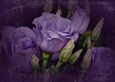 Vintage Purple Roses Art Print by Richard Cummings