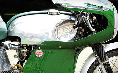 Photograph - Vintage Racing Velocette by Tim Gainey