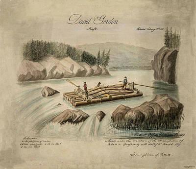 Drawing - Vintage Raft Patent by Vintage Pix