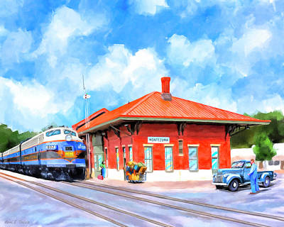 Painting - Echoes Of Railroads Past - Central Of Georgia Depot by Mark Tisdale