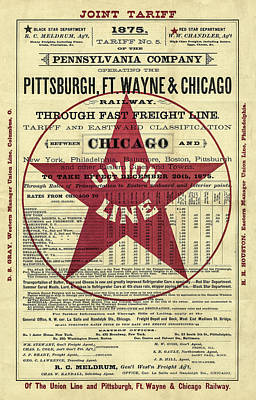 Digital Art - Vintage Railroad Schedule by Vintage Pix