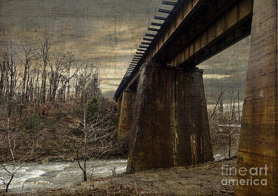 Vintage Railroad Trestle Art Print
