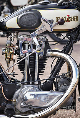 Photograph - Vintage Raleigh Motorcycle by Tim Gainey