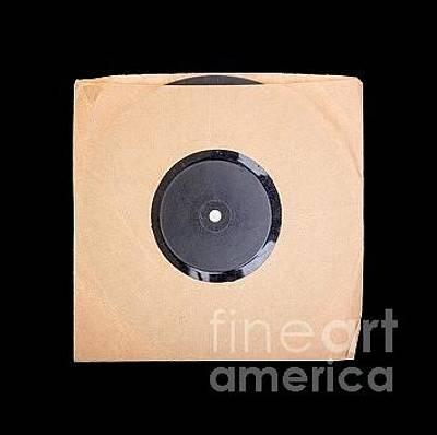 Vinyl Record Photograph - Vintage Record Album Tee by Edward Fielding