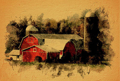 Photograph - Vintage Red Barn by Leslie Montgomery