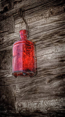 Photograph - Vintage Red Bottle by Ann Powell