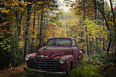 Abandoned Cabins Smoky Mountains Wall Art - Photograph - Vintage Red by Debra and Dave Vanderlaan