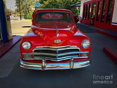 Photograph - Vintage Red Plymouth by Anne Sands