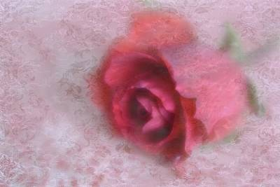 Photograph - Vintage Red Rose by Diane Alexander