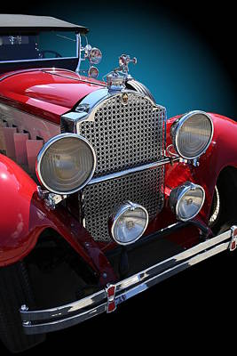Photograph - Vintage Red Touring Automobile by Debi Dalio