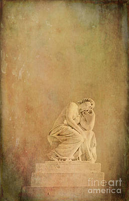 Photograph - Vintage Reflecting Woman 1 - Artistic by Kathleen K Parker