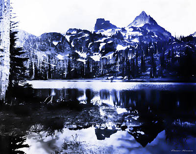 Vintage Reflection Lake  With Ripples Early 1900 Era... Art Print