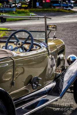 Steering Digital Art - Vintage Reflections by Adrian Evans