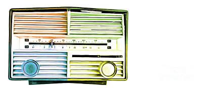 Vintage Retro Radio Pop Art Mug Art Print by Edward Fielding
