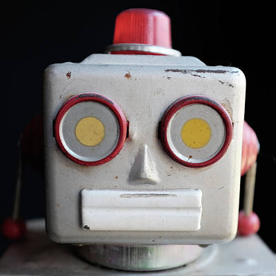Classic Photograph - Vintage Robot Square by Edward Fielding