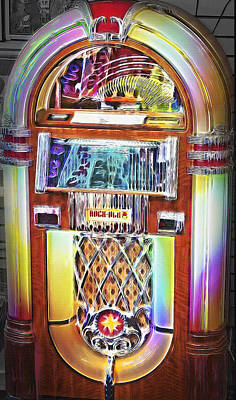Vintage Rock-ola Jukebox Art Print by Steve Ohlsen