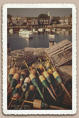 Photograph - Vintage Rockport Massachusetts Harbor  by Garry McMichael