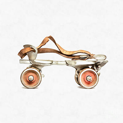 Digital Art - Vintage Roller Skate Painting by Edward Fielding