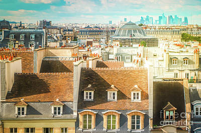 Paris Skyline Royalty-Free and Rights-Managed Images - Vintage Roofs of Paris by Anastasy Yarmolovich