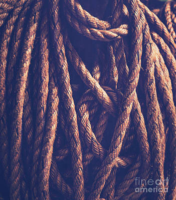 Photograph - Vintage Rope Background by Anna Om