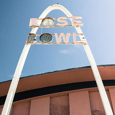 Photograph - Vintage Rose Bowl Route 66 Tulsa - Square Format by Gregory Ballos