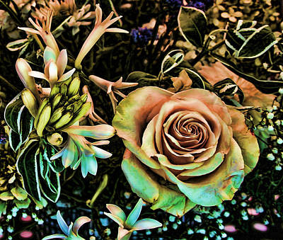 Digital Art - Vintage Rose by Cathy Harper
