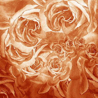 Painting - Vintage Rose Petals Abstract  by Irina Sztukowski