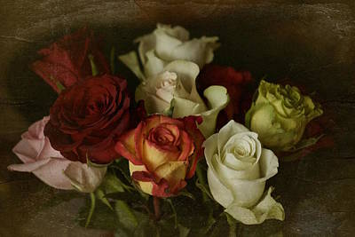 Art Print featuring the photograph Vintage Roses Feb 2017 by Richard Cummings