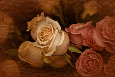 Art Print featuring the photograph Vintage Roses March 2017 by Richard Cummings