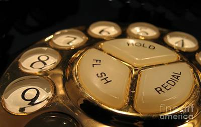 Photograph - Vintage Rotary Dial Phone by Yali Shi