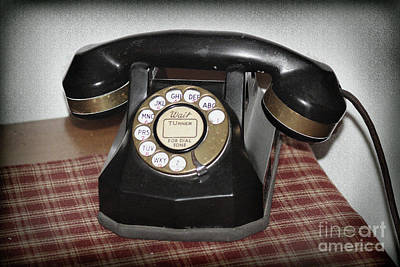 Photograph - Vintage Rotary Phone by Karen Adams