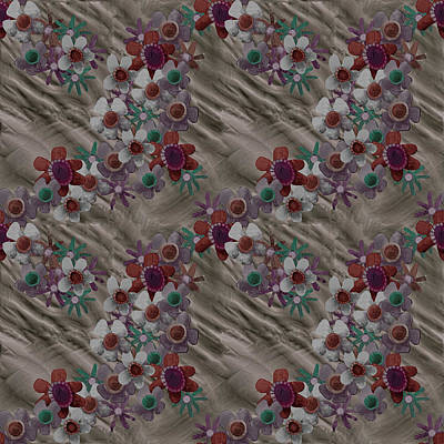 Digital Art - Vintage Rumpled Blossoms by April Burton