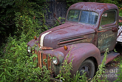 Photograph - Vintage Rusty Ford Pickup Truck by John Stephens