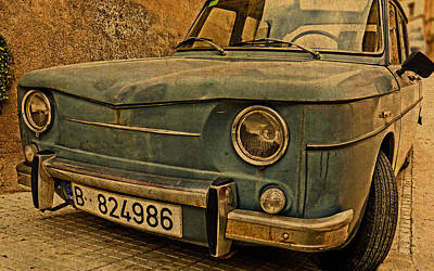 Truck Mixed Media - Vintage Rusty Renault Truck by Design Turnpike