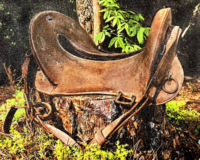 Photograph - Vintage Saddle by Susan Leggett