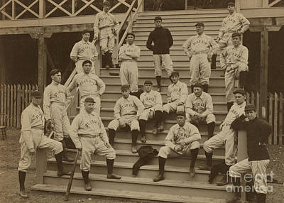 Vintage Saint Louis Baseball Team Photo Art Print by American School